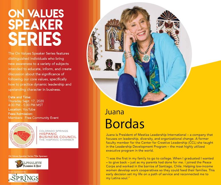 On Values Speaker Series Flyer 2020
