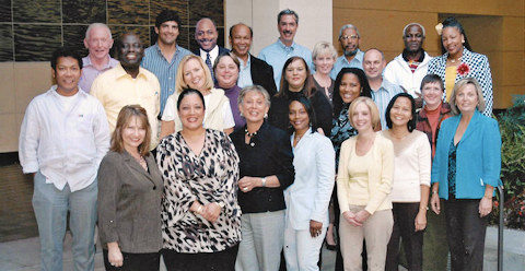 Juana with Chevron Management Institute members