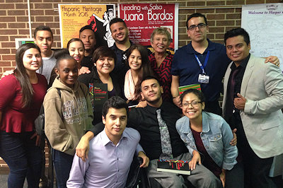 Latino students at Harper Community College