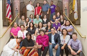 Juana with Latino Nonprofit Leadership Academy members